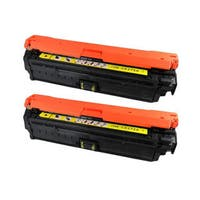 HP CE272A (HP 650A) Compatible Yellow Toner Cartridge (Pack of 2)