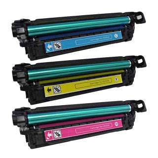 HP CE251A (HP 504A) Compatible Cyan, Yellow, Magenta Toner Set Cartridges (Pack of 3)