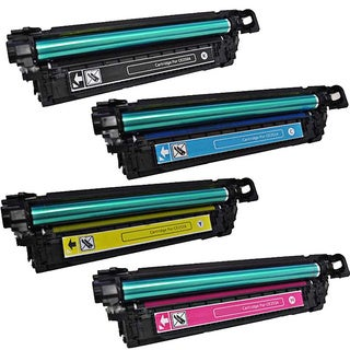 HP CE250A (HP 504A) Compatible Black, Cyan, Yellow, Magenta 4-piece Toner Cartridge Set