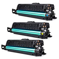 HP CF031A (HP 646A) Compatible Cyan Yellow Magenta Toner Cartridges (Pack of 3)