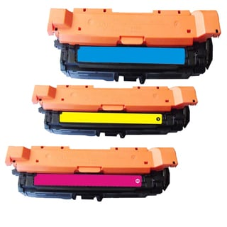 HP CE261A (HP 648A) Compatible Cyan Yellow Magenta Toner Cartridges (Pack of 3)