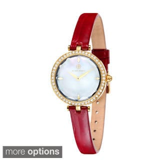 Klaus Kobec Women's 'Angel' Leather Strap Watch