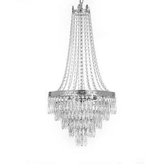 Gallery Empire Style 4-light Silver Crystal Chandelier