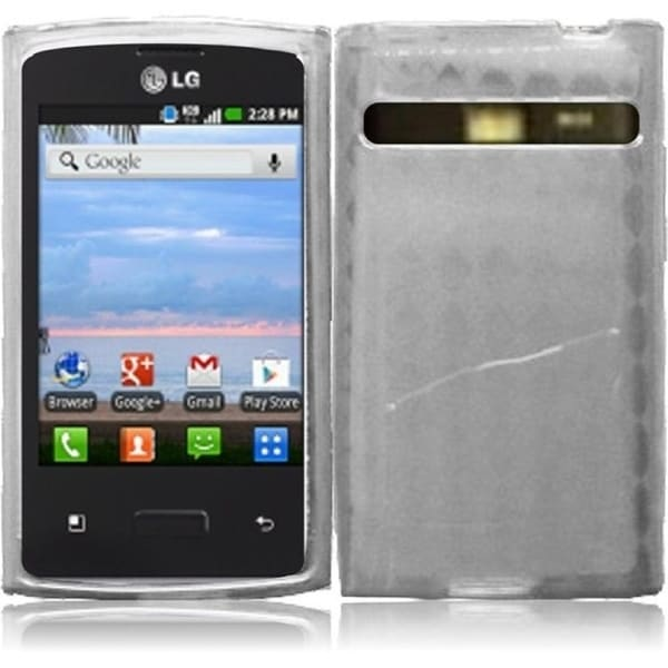 INSTEN TPU Phone Case Cover for LG Optimus Logic L35g/ Dynamic L38c