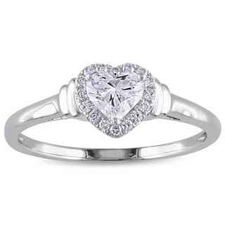Miadora Signature Collection 14k White Gold 1/2ct TDW Heart Diamond Ring https://ak1.ostkcdn.com/images/products/8666621/P15924175.jpg?impolicy=medium