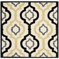 Safavieh Handmade Moroccan Chatham Ivory Wool Rug - 5' x 5' square