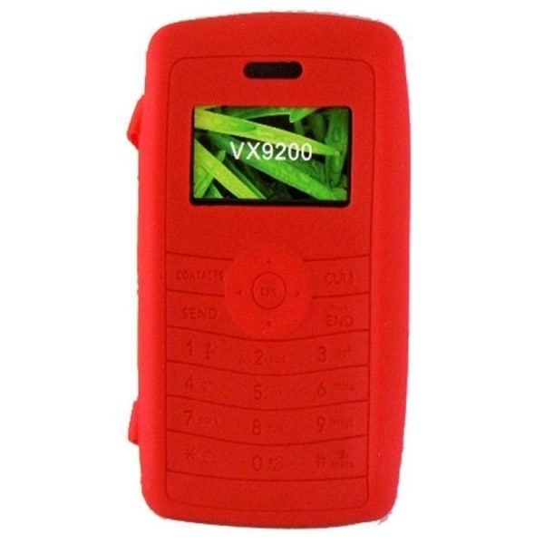 INSTEN Red Soft Silicone Phone Case Cover for LG EnV3 VX9200
