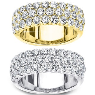 Amore 14k Gold 2ct TDW Multi-row Prong-set Diamond Ring