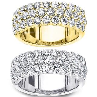 Amore 14k Gold 2ct TDW Multi-row Prong-set Diamond Ring