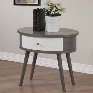 Carson Carrington Blake Single-drawer Two-tone Nightstand