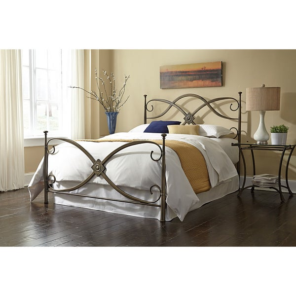 Shop Vivienne Vintage Steel Queen Size Bed Free Shipping