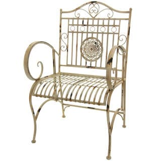 Distressed White Rustic Garden Chair China)