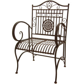 Rustic Rust Patina Garden Chair (China)