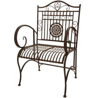 Maison Rouge Tennyson Handmade Rustic Rust Patina Garden Chair