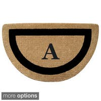 Heavy Duty Coir Monogrammed Black Frame Door Mat
