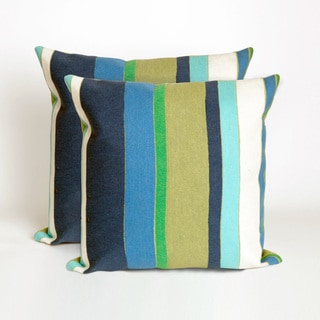 Vertical Stripe 20-inch Decorative Pillow (Set of 2)