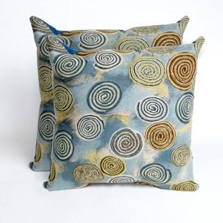 Swirls Seascape 20-inch Decorative Pillows (Set of 2)