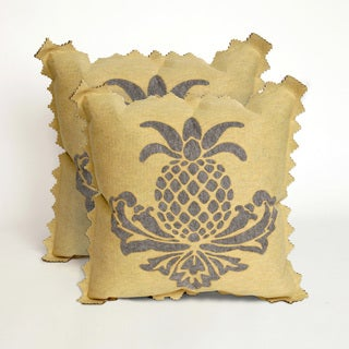 Aloha Grey and Yellow 20-inch Decorative Pillows (Set of 2)