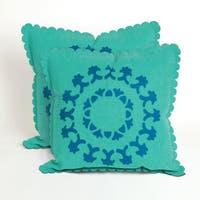 Lace Spiral 20-inch Decorative Throw Pillows (Set of 2)