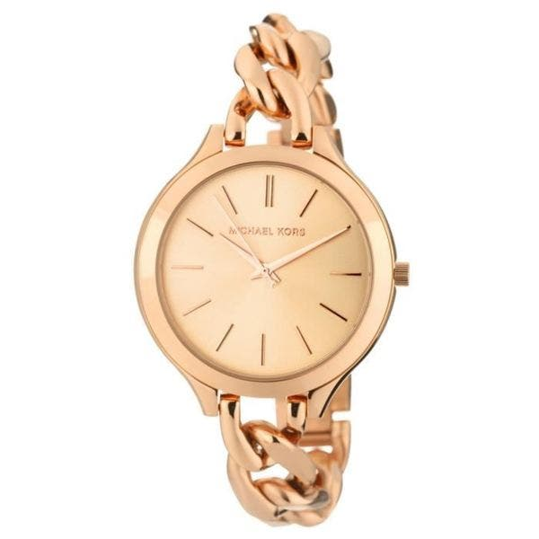 4983fdeec Michael Kors Women's MK3223 'Runway' Rose Gold-Plated Stainless Steel Watch