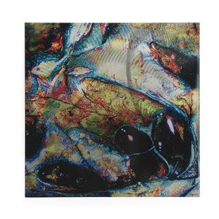 Emley 'Speechless' Textured Abstract Metal Wall Art