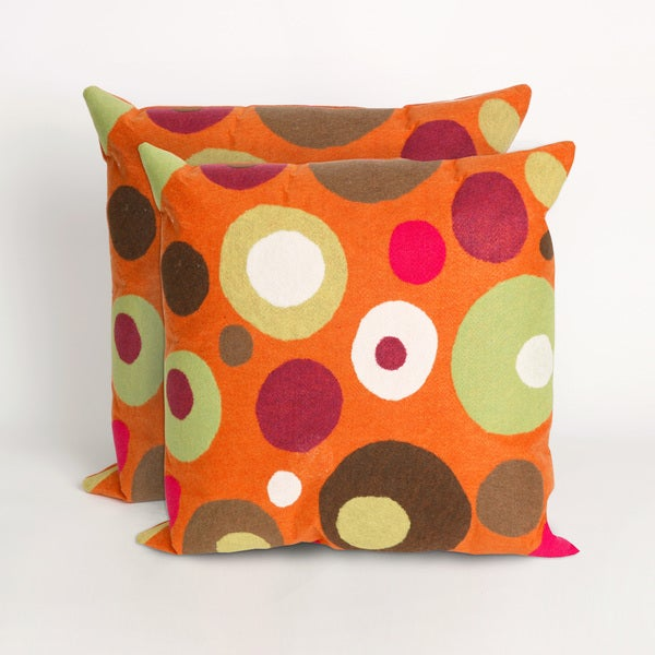 Simple Dot Mandarin 20 - inch Decorative Pillow (Set of 2)