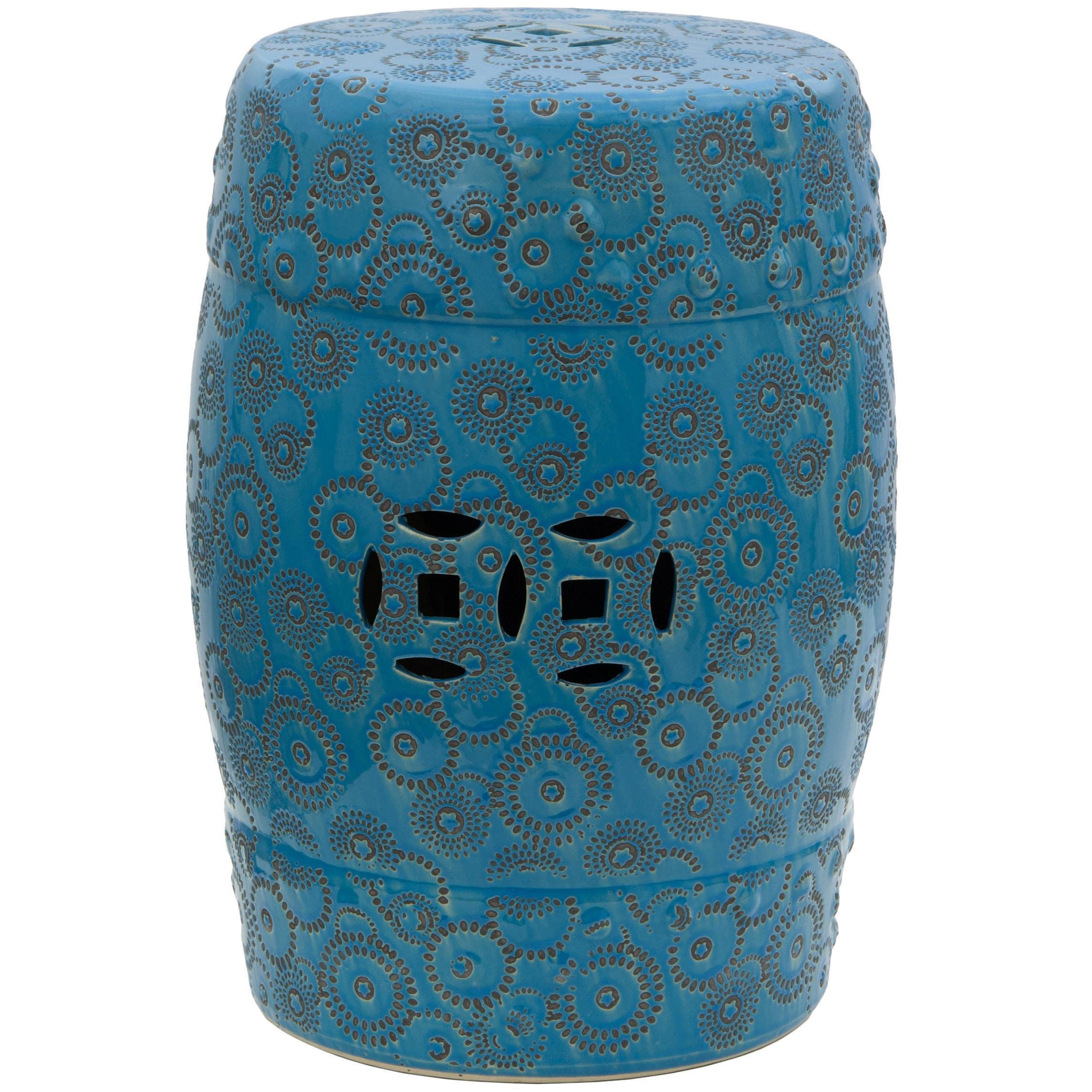 Handmade Spherical Design Porcelain Garden Stool (China),...