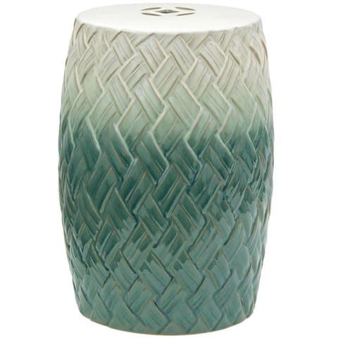 Handmade Carved Porcelain Stool/End Table