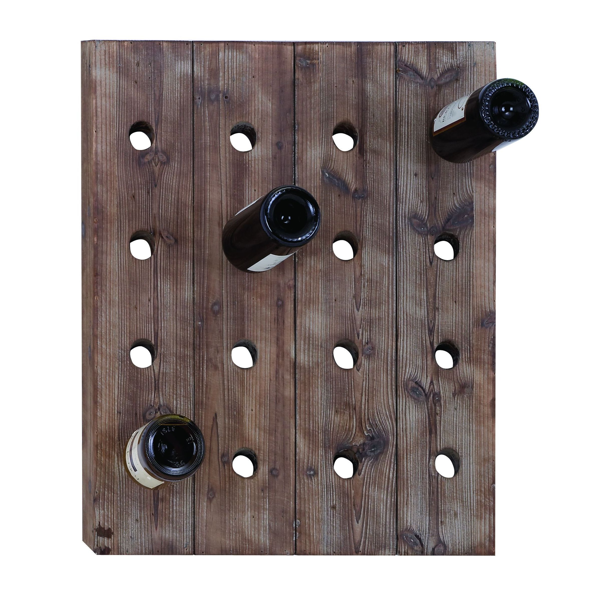 Studio 350 Classy Wall Mount Wine Rack with 16 Slots (Han...