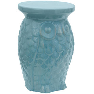 Handmade Carved Owl Porcelain Garden Stool (China)