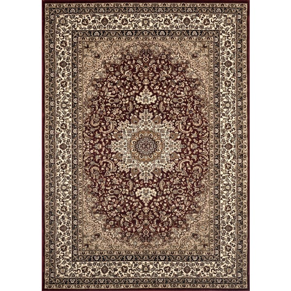 Medallion traditional burgundy rug 7 39 10 x 10 39 2 free for 10x10 living room rugs