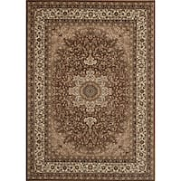 Medallion Traditional Brown Rug - 7'10 x 10'2