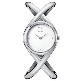 Calvin Klein Women's 'Enlace' Stainless Steel Swiss Quartz Watch