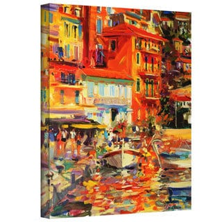 Peter Graham 'Reflections, Villefranche' Gallery-wrapped Canvas