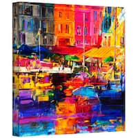Art Wall Peter Graham 'Honfleur Harbour, 2011' Gallery-wrapped Canvas Art