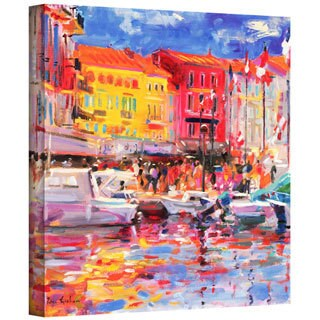 Peter Graham 'Le Port de St Tropez' Gallery-wrapped Canvas