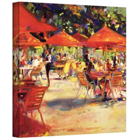 Peter Graham 'Le cafe du Jardin' Gallery-wrapped Canvas
