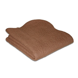 Greenland Home Fashions Serenity Chocolate Quilted Throw
