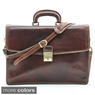 Alberto Bellucci Vernio Single Compartment Leather Briefcase