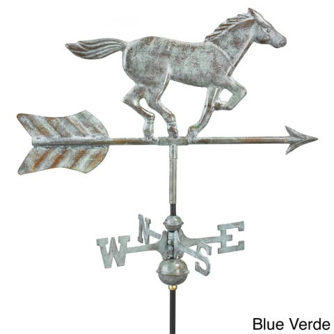 Horse Garden Weathervane with Garden Pole by Good Directions
