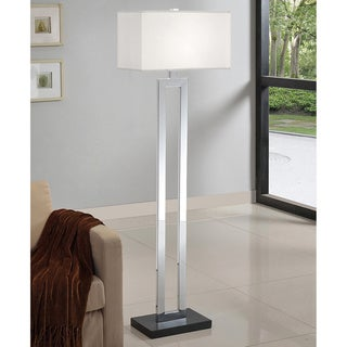 Artiva USA Geometric 60-inch Chrome/ Black Contrast Floor Lamp