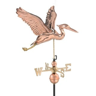 Blue Heron Pure Copper Weathervane by Good Directions