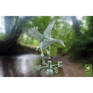 Landing Duck Pure Copper Weathervane by Good Directions