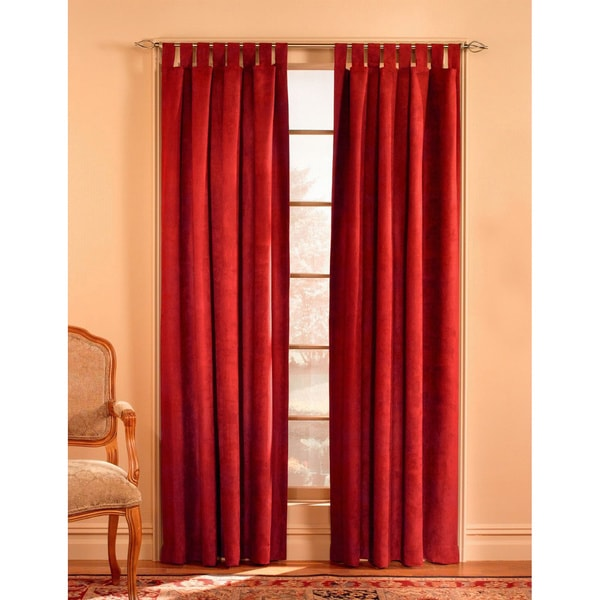 Shop Solid Microsuede Wide Curtain Panel Pair Free
