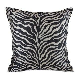 Sherry Kline 'True Safari' Black 18-inch Throw Pillow