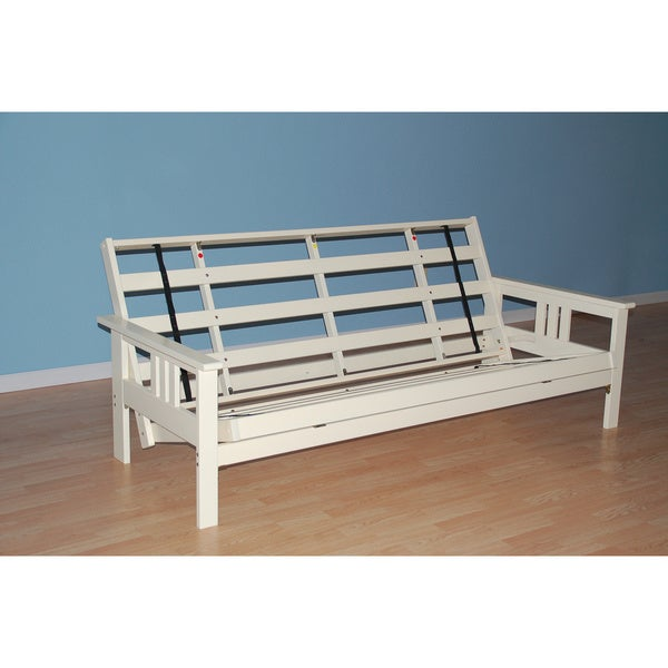 Clay Alder Home Dent Futon Frame In Antique White Wood Mattress Not Included