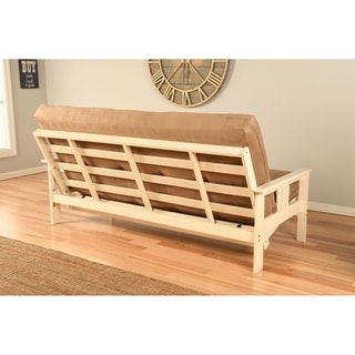somette beli mont multi flex futon frame in antique white wood mattress not included
