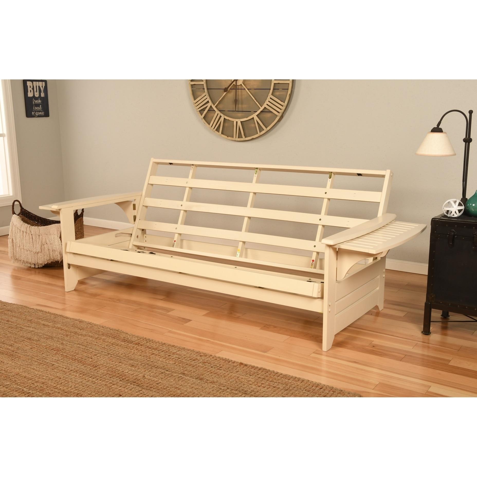 somette ali phonics multi flex futon frame in antique white wood mattress not 609207129929 ebay. Black Bedroom Furniture Sets. Home Design Ideas
