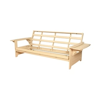 Havenside Home Okaloosa Futon Frame In Antique White Wood Free Shipping Today Com 8667601