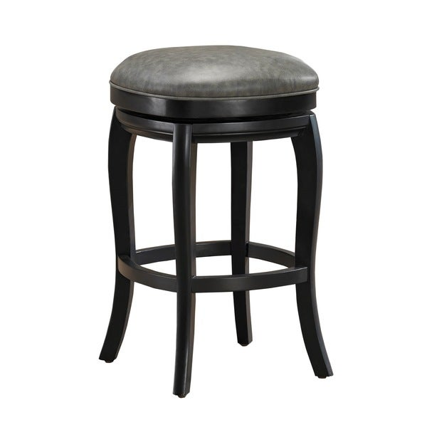 Shop Marion 26 Inch Counter Height Stool In Black And Grey